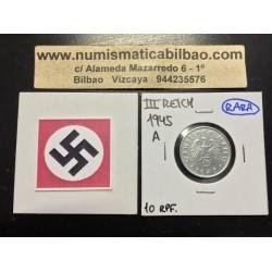 .ALEMANIA 10 REICHSPFENNIG 1945 A ESVASTICA NAZI III REICH ZINC