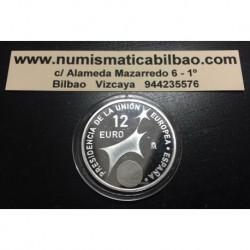 . 12 EUROS 2002 ESPAÑA @PROOF@ PRESIDENCIA EUROPEA PLATA SILVER