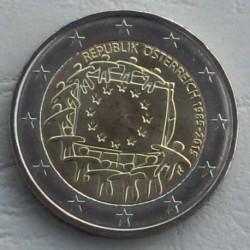 . .2 EUROS 2015 BANDERA EUROPEA AUSTRIA SC Moneda Coin