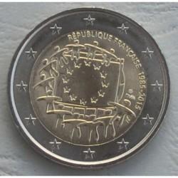 . .2 EUROS 2015 BANDERA EUROPEA FRANCIA SC Moneda Coin