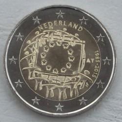 . .2 EUROS 2015 BANDERA EUROPEA HOLANDA SC Moneda Coin
