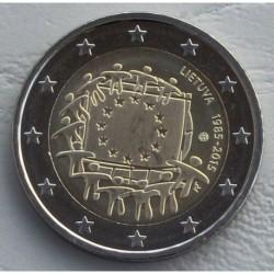 . .2 EUROS 2015 BANDERA EUROPEA LITUANIA SC Moneda Coin