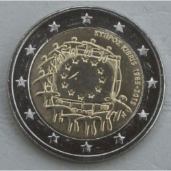 . 2 EUROS 2015 BANDERA EUROPEA CHIPRE SC Moneda Coin @RARA@
