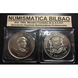 SOMALIA República 25 SHILLINGS 2000 MAO TSE TUNG KM.75 MILLENIUM COINS NICKEL MONEDA SIN CIRCULAR