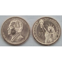 ESTADOS UNIDOS 1 DOLAR 2016 P PRESIDENTE 37 RICHARD NIXON MONEDA SC USA $1