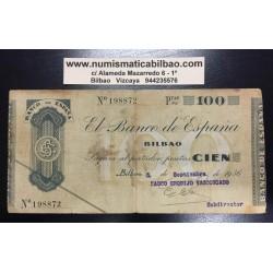 1936 EUSKADI 100 PESETAS BANCO CENTRAL @RARO@ 239870 EUZKADI