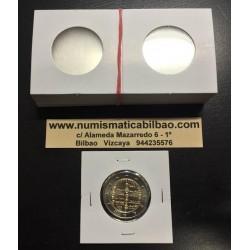 CARTONES de MONEDAS 100 unidades PARA HOJA DE PLASTICO 28 milímetros (EXACTA PARA 2 EUROS)