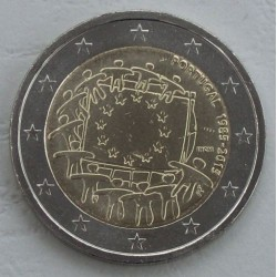 . .2 EUROS 2015 BANDERA EUROPEA PORTUGAL SC Moneda Coin