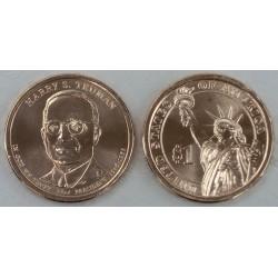 ESTADOS UNIDOS 1 DOLAR 2015 P PRESIDENTE 33 HARRY S. TRUMAN MONEDA DE LATON SC USA $1 Dollar Presidential coin