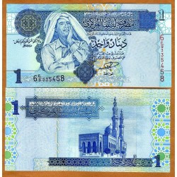 LIBIA 1 DINAR 2004 GADAFFI Pick 68 BILLETE SIN CIRCULAR LIBYA Banknote