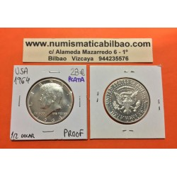 ESTADOS UNIDOS 1/2 DOLAR 1964 P KENNEDY PROOF HALF DOLLAR PLATA