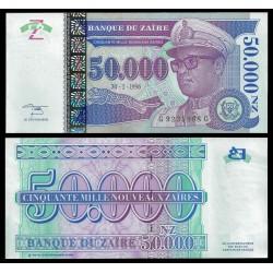 ZAIRE 50000 NUEVOS ZAIRES 1996 DICTADOR MOBUTU Pick 75 BILLETE SC BANKNOTE UNC AFRICA NOUVEAUX 50000 Zaires