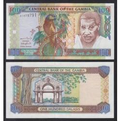 GAMBIA 100 DALASIS 2001 DAWDA KAIRABA Pick 24A BILLETE SC BANKNOTE UNC AFRICA