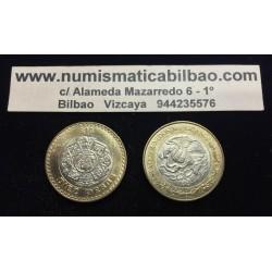 .MEXICO 10 PESOS 1976/1981 ERROR ACUÑACION OFF CENTER COIN SC