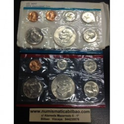 1974 UNITED STATES MINT UNCIRCULATED COIN SET D+P 12 COINS ESTADOS UNIDOS 1+5+10+25 CENTAVOS + 1/2 DOLAR + 1 DOLAR EISENHOWER