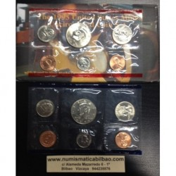 1995 UNITED STATES MINT UNCIRCULATED COIN SET D+P 10 COINS ESTADOS UNIDOS 1+5+10+25 CENTAVOS + 1/2 DOLAR KENNEDY