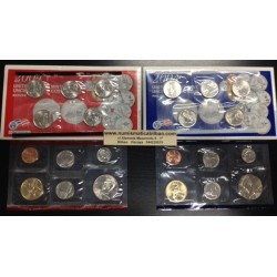 2004 UNITED STATES MINT UNCIRCULATED COIN SET D+P 20 COINS ESTADOS UNIDOS 1+5+10+25 CENTAVOS + 1/2 DOLAR + 1 DOLAR