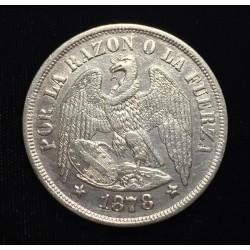 . ARGENTINA 1 PESO 1882 DAMA LIBERTAD KM*29 PLATA EBC- Silver