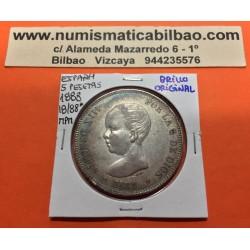@RARA ASI@ ESPAÑA 5 PESETAS 1888 * 18 88 MPM REY ALFONSO XIII MONEDA DE PLATA (DURO) PRECIOSA CONSERVACION Spain silver KM.689