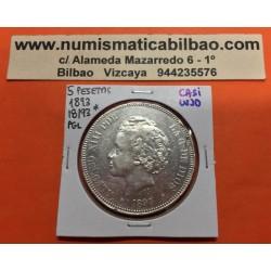 @RARA ASI@ ESPAÑA 5 PESETAS 1893 * 18 93 PGL REY ALFONSO XIII MONEDA DE PLATA (DURO) PRECIOSA CONSERVACION Spain silver KM.700