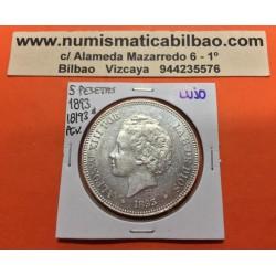 @MUY RARA@ ESPAÑA 5 PESETAS 1893 * 18 93 PGV REY ALFONSO XIII MONEDA DE PLATA (DURO) ESPECTACULAR Spain silver KM.700