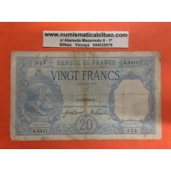 FRANCIA 20 FRANCOS 1949 TIPO BAYARD Pick 74 BILLETE MUY CIRCULADO FRANCE FRANCS BANKNOTE