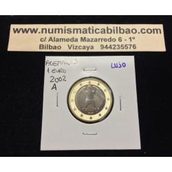 ALEMANIA 1 EURO 2002 Letra A AGUILA MONEDA SIN CIRCULAR Germany Euros coin
