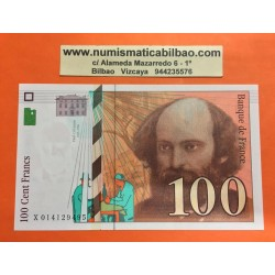 FRANCIA 100 FRANCOS 1997 PAUL CEZZANE Serie X Pick 158A SC France Francs UNC BANKNOTE