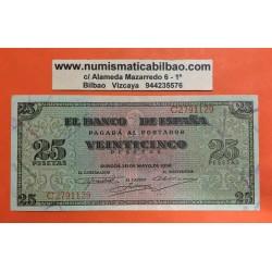 25 PESETAS 1936 NOVIEMBRE 21 BURGOS Serie R/501 SC ESPAÑA