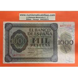 ESPAÑA 1000 PESETAS 1936 BURGOS EBC- Serie A.677233