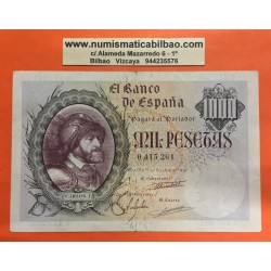 ESPAÑA 1000 PESETAS 1940 EMPERADOR CARLOS V y AGUILA Sin Serie 0415261 Pick 125 @BILLETE RARO@ Spain
