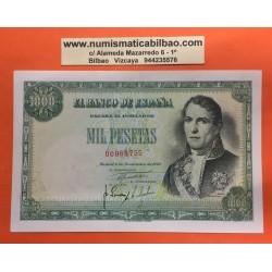 ESPAÑA 1000 PESETAS 1949 MARQUES DE SANTILLAN y CUADRO DE GOYA SIN SERIE 00988755 Pick 138 BILLETE CASI SIN CIRCULAR Spain
