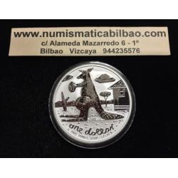 AUSTRALIA 1 DOLAR 2008 CANGURO PLATA Silver Kangaroo Känguru $1