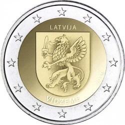 LETONIA 2 EUROS 2016 VIDZEME ESCUDO DE LA REGION SC MONEDA SC CONMEMORATIVA Latvia coin