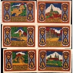 @NOTGELD@ ALEMANIA 50 PFENNIG 1921 STADT OSNABRUCK 6 BILLETES SC Germany
