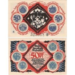 @NOTGELD@ ALEMANIA 50 PFENNIG 1921 STADT BIELEFELD BEBEDOR DE CERVEZA BILLETE SC Germany