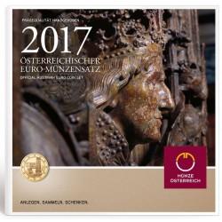 AUSTRIA CARTERA EUROS 2017 SC 1+2+5+10+20+50 Centimos + 1 EURO + 2 EUROS 2017 UNC BU SET KMS Österreich