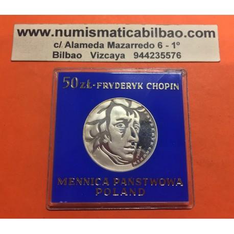 @PROBA@ POLONIA 50 ZLOTY 1972 MW MUSICO CHOPIN KM.PR202 MONEDA DE PLATA PROOF POLAND SILVER COIN FRYDERIK MINT SET