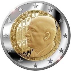GRECIA 2 EUROS 2016 DIMITRI MITROPOULOS SC MONEDA CONMEMORATIVA
