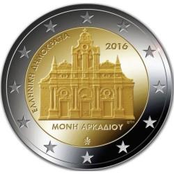 GRECIA 2 EUROS 2016 MONASTERIO DE ARCADI SC MONEDA CONMEMORATIVA