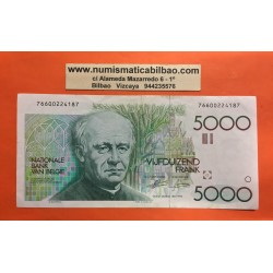 @MUY RARO@ BELGICA 5000 FRANCOS 1982 GUIDO GEZELLE Pick 145 BILLETE EBC/EBC- Belgium Belgie Francs banknote