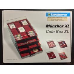 @2017 OFERTA@ BANDEJA LEUCHTTURM MB COIN BOX XL Color GRANATE para MONEDAS EXTRA GRANDES, MEDALLAS, CONDECORACIONES, RELOJES...