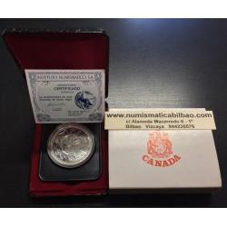 CANADA 1 DOLAR 1978 JUEGOS DE LA COMMONWEALTH GAMES EN EDMONTON KM.121 MONEDA DE PLATA SC ESTUCHE Silver Dollar