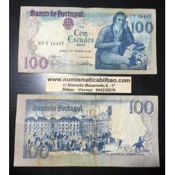 PORTUGAL 100 ESCUDOS 1981 MANUEL BARBOSA Pick 178 BILLETE MUY CIRCULADO Portuguese banknote