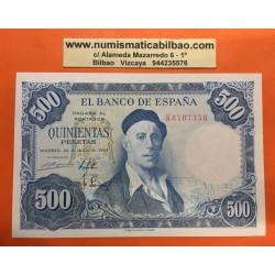 ESPAÑA 500 PESETAS 1954 PINTOR IGNACIO ZULOAGA Serie K 6707350 Pick 154 BILLETE SIN CIRCULAR SC PLANCHA Spain banknote