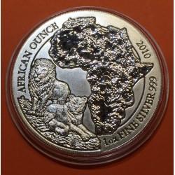 ..PLATA RWANDA 50 FRANCOS 2014 IMPALA SC 1 Oz SILVER RWF