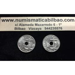 ESPAÑA 50 CENTIMOS 1963 * 64 y 50 CENTIMOS 1963 * 65 ESTADO ESPAÑOL FRANCO 2 MONEDAS DE NICKEL SIN CIRCULAR
