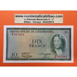 LUXEMBURGO 10 FRANCOS 1954 (SIN FECHA) GRAN DUQUESA CHARLOTTE Pick 48 BILLETE SC Luxembourg UNC BANKNOTE