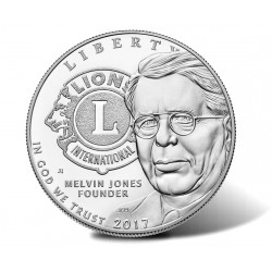 ESTADOS UNIDOS 1 DOLAR 2017 P LIONS CLUB INTERNATIONAL CENTENNIAL MONEDA DE PLATA PROOF ESTUCHE Silver Dollar US MINT