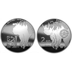 PORTUGAL 2,50 EUROS 2010 FUTBOL SUDAFRICA NIQUEL SC